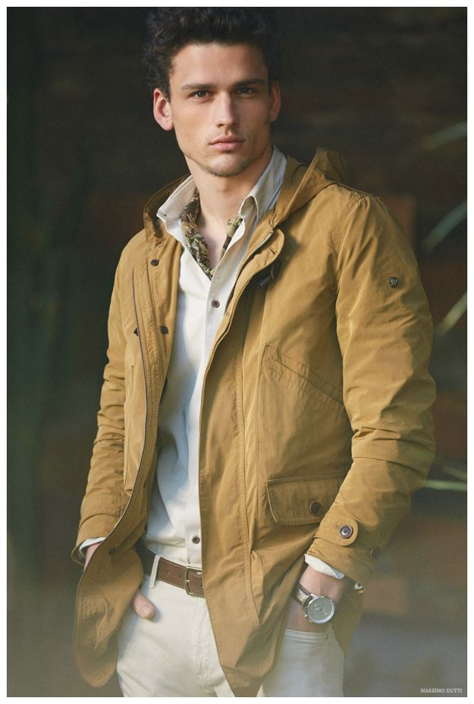 Simon Nessman Models Transitional Spring Fashions for Massimo Dutti Men