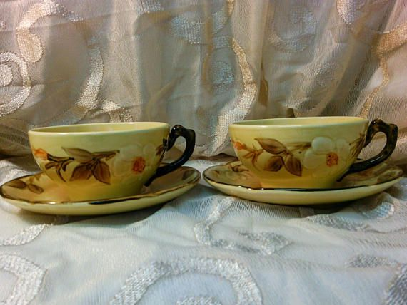 Franciscan Ware Cafe Royal Pattern set of 2 Cups and Saucers