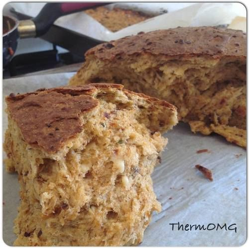 Sundried tomato Parmesan bread : thermomix