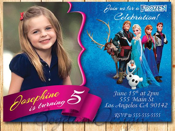Frozen Invitation Frozen Birthday Party Disney by BogdanDesign, $9.00