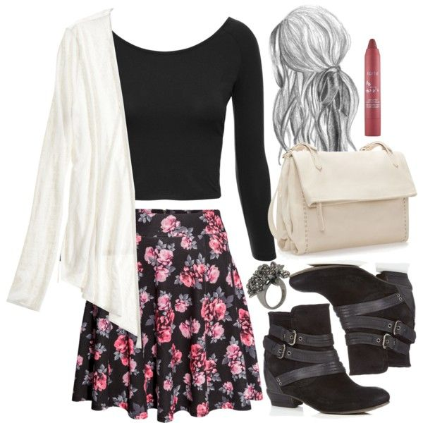"""Allison Inspired Spring School Outfit"" by veterization on Polyvore—I would totally wear this outfit, so it definitely is an ""Allison Inspired"" outfit! :)"
