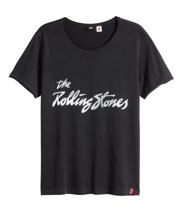 Rock 'n' roll in this easy black Rolling Stones T-shirt.   H&M For Men