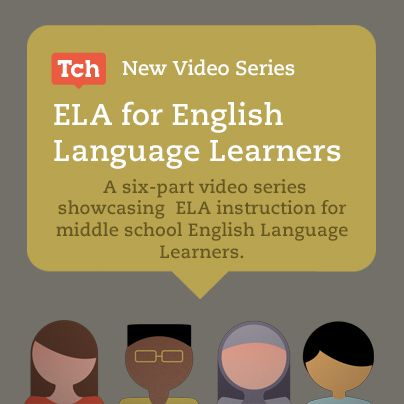 Click here for a video playlist of the @Teaching Channel six-part series showcasing ELA instruction for middle school ELLs, produced in conjunction with Stanford University.  #ELL #ELA #videoed