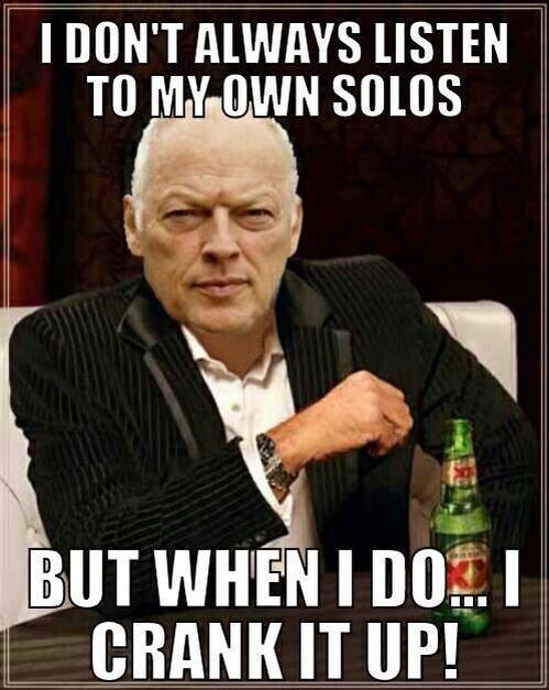 David Gilmour solos