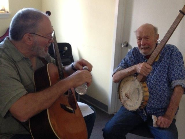 """Dorothy Luongo works at Poughkeepsie Day School, with which Seeger has a connection. He opened with """"We Shall Overcome,"""" a song with special meaning for Luongo. """"We do a peacemakers event once a year - everybody sings that, so it's very special to go back to the roots."""" In 1949 Seeger performed for the 4th, 5th & 6th grades at a Poughkeepsie Day School concert to benefit Peoples Songs Inc., -  founded in 1945 with the belief that folk music could be an effective force for social change."""