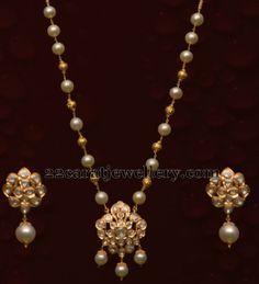 Simple Locket and Drops Earrings | Jewellery Designs