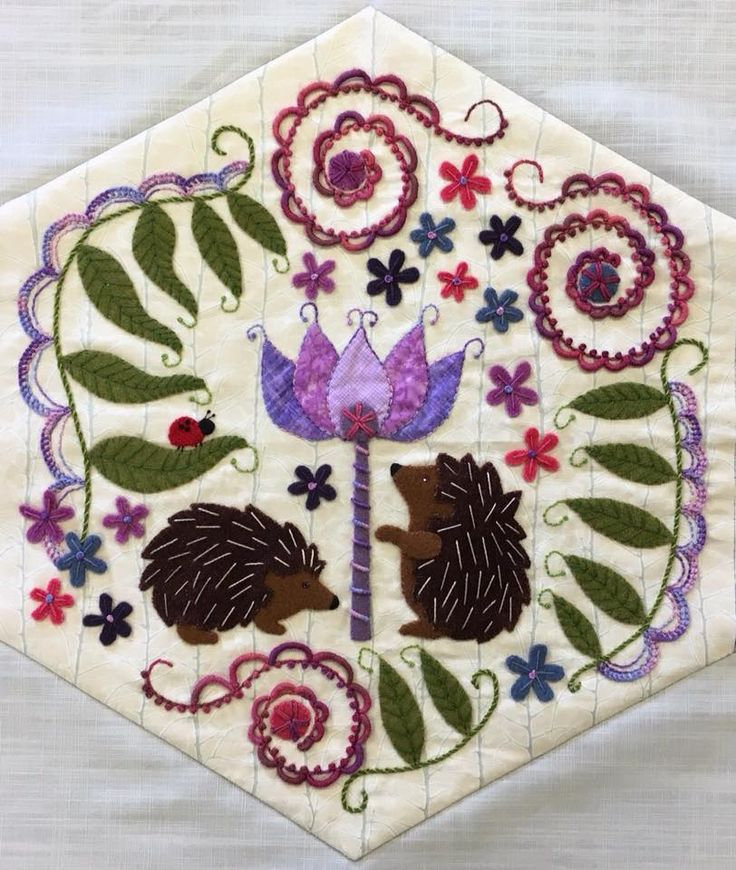 Pam Rose: The first 3 blocks of my Woodland Whimsy BOM finished!!!