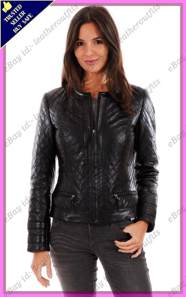 dc7ce053cb8a8 HOT Women s Genuine Lambskin Real Leather Motorcycle Slim Fit Biker Jacket    240  fashion  clothing  shoes  accessories  womensclothing   coatsjacketsvests ...