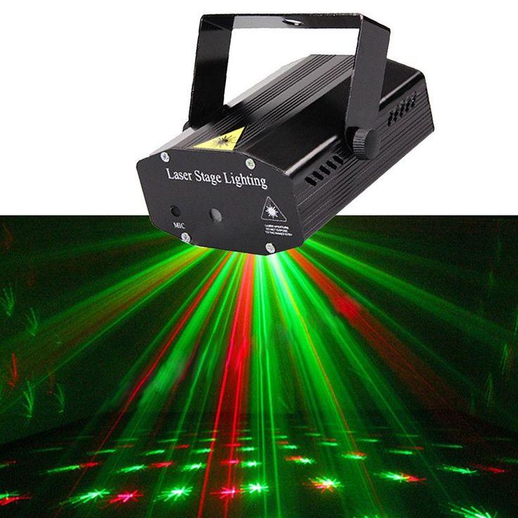 New Mini Portable 110-240V Wonderful R&G Red Green Laser Projector Stage Light Night Club Lighting Home Party DJ Disco US Plug