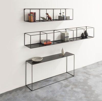 Scopri Scaffale Slim Irony -/ L 124 cm, Nero ramato di Zeus, Made In Design Italia