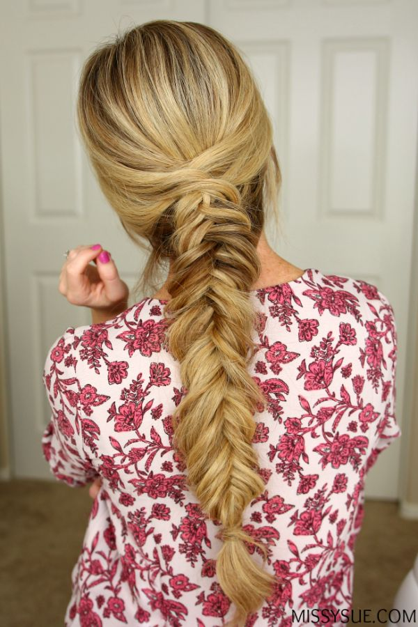 how to make a fishtail braid on yourself video