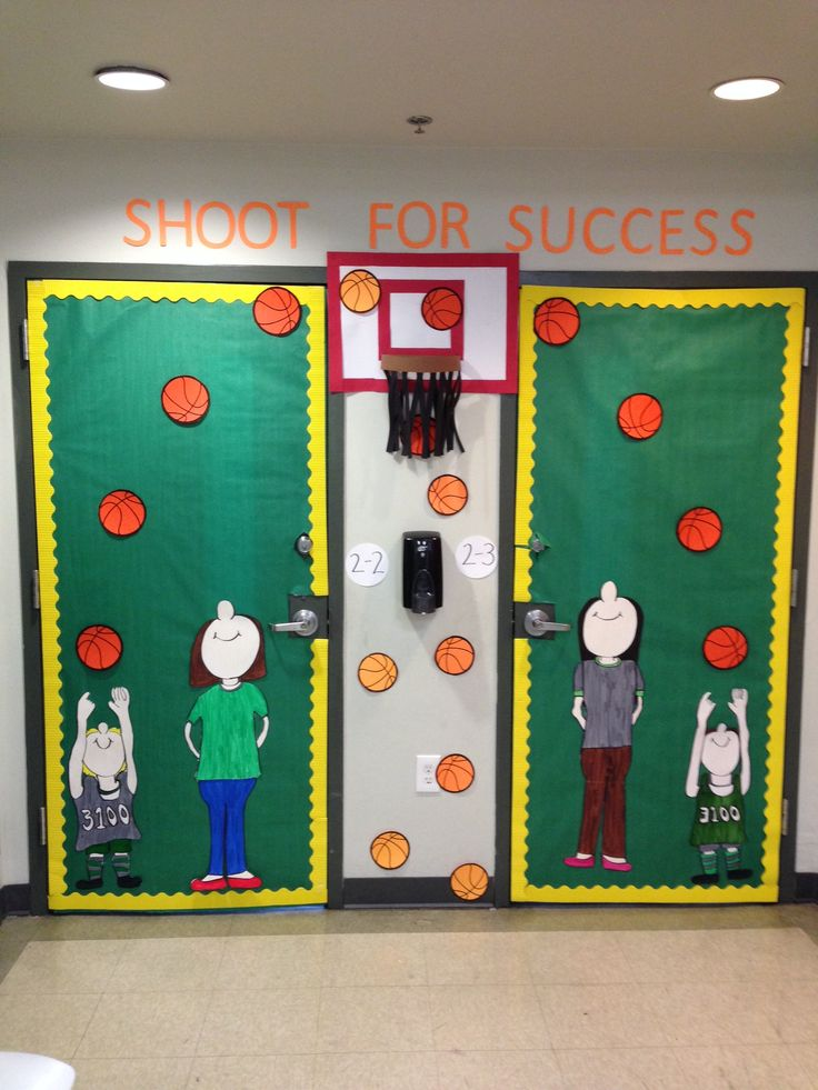 Basketball Door Theme. Elementary Class : sports themed classroom decorating ideas - www.pureclipart.com
