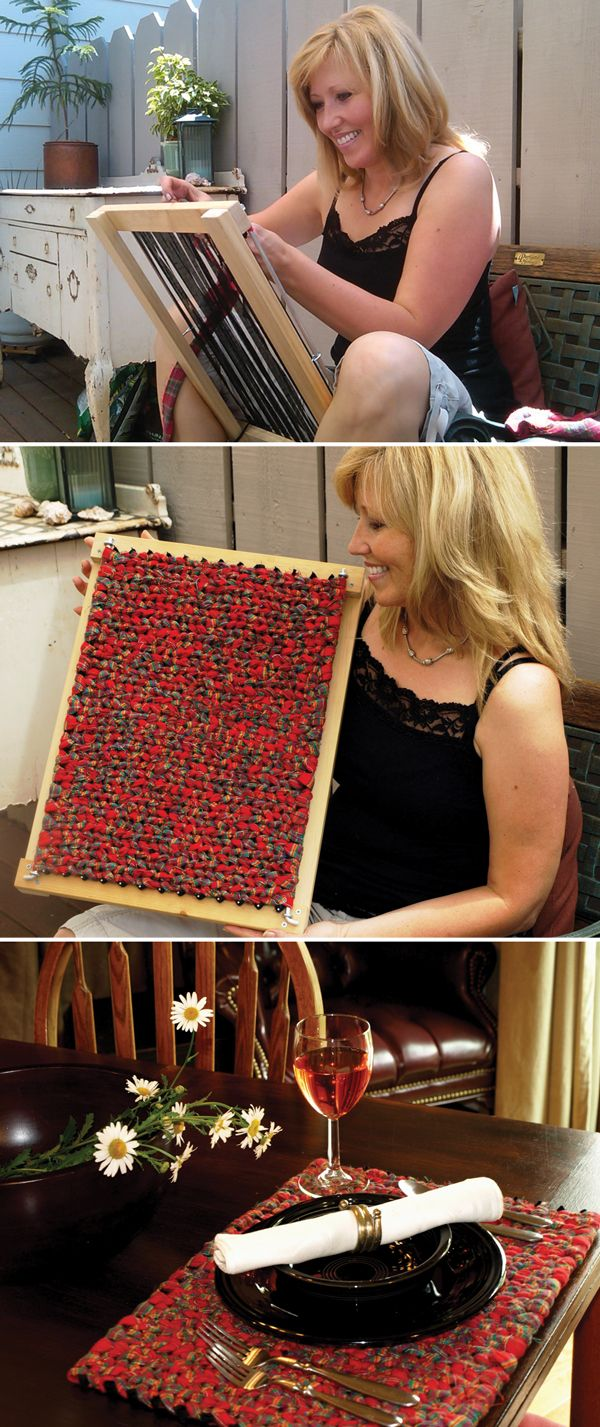 Weaving Frames! These are the best & the rugs/placemats are GORGEOUS and sooooo easy!!  Make me one, honey!