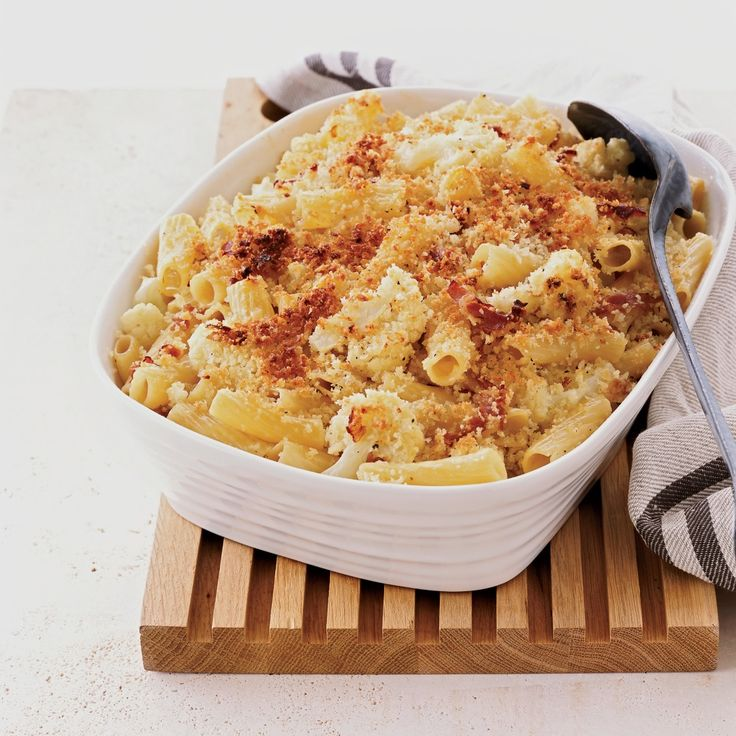 Melissa Rubel Jacobson uses a few great shortcuts to make her creamy baked pasta. She starts by boiling the cauliflower and rigatoni together in one p...