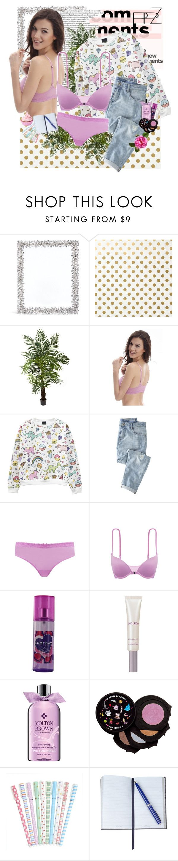 """PPZ Lingerie 9."" by nensy ❤ liked on Polyvore featuring Lane Crawford, Kate Spade, Nearly Natural, Wrap, Justin Bieber, Decléor, Molton Brown, Le Métier de Beauté, Smythson and lingerie"