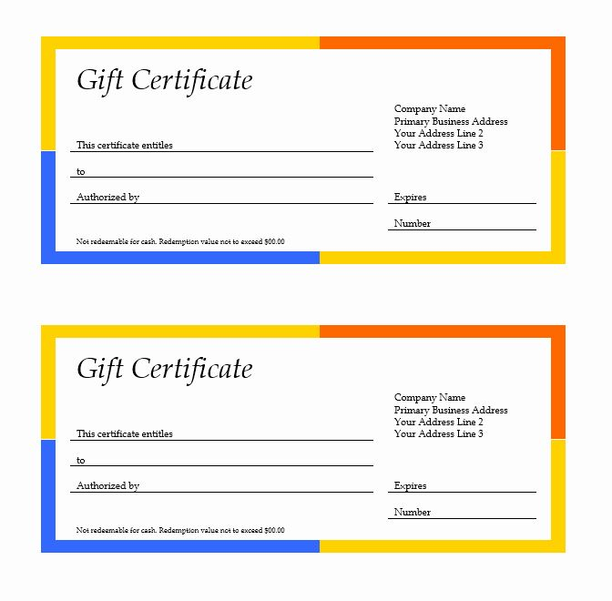 Business Gift Certificate Template Elegant Google Docs Gift Certificate Gift Certificate Template Word Free Gift Certificate Template Gift Certificate Template