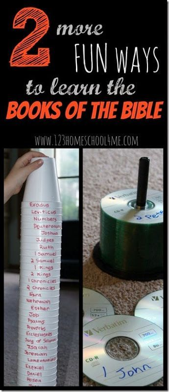 Fun ways to learn the Books of the Bible - These are such fun clever ideas! Great for Sunday school lessons or at home. These bible games are perfect for kids who can read from 1st-6th grade. (homeschool, sunday school, Bible)