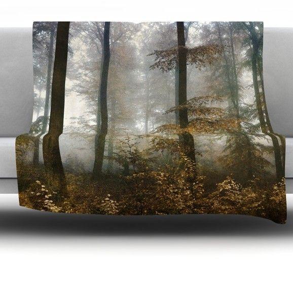 Forest Mystics Fleece Throw Blanket