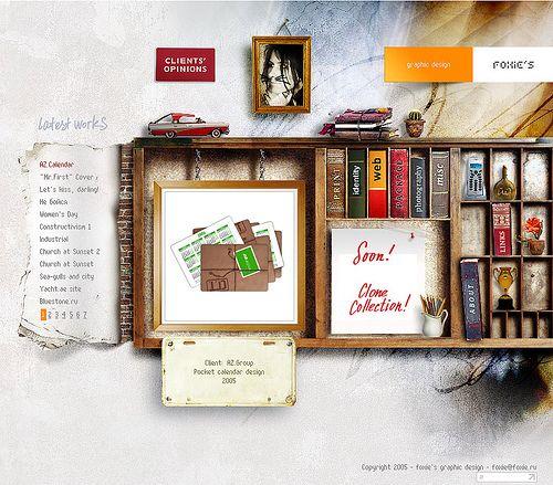 graphic designer's portfolio site |