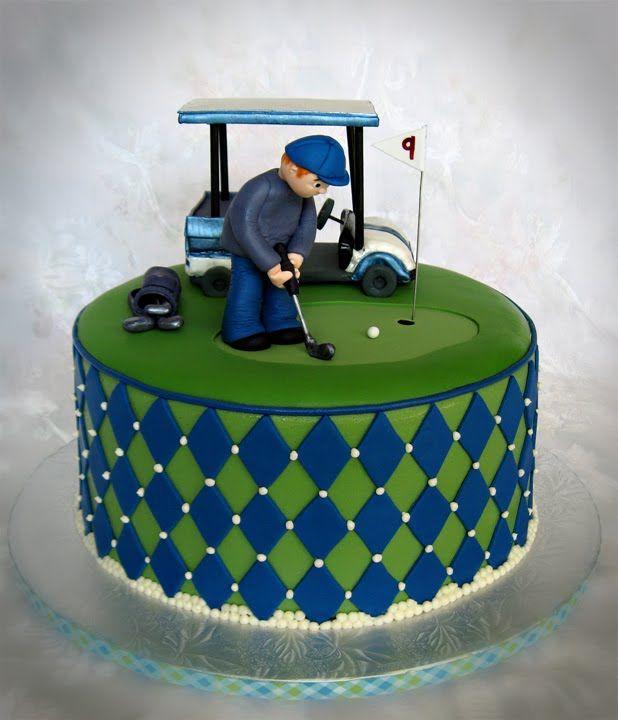 7 best birthday cakes images on Pinterest Golf cakes Theme