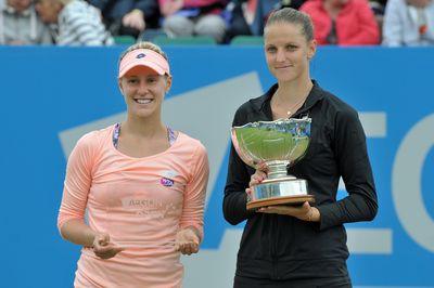 Karolina Pliskova (CZE) The Champion and Alison Riske (USA) The Runner Up AEGON Open  Copyright B&O Press Photo.
