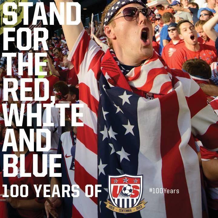 US Soccer fans- representing US flag