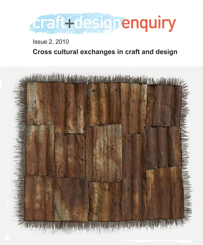 Free online journal   craft+design enquiry Journal issue 2 Cross cultural exchanges in craft and design