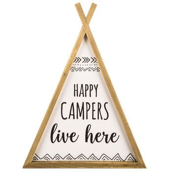 Happy Camper Teepee Wood Wall Decor