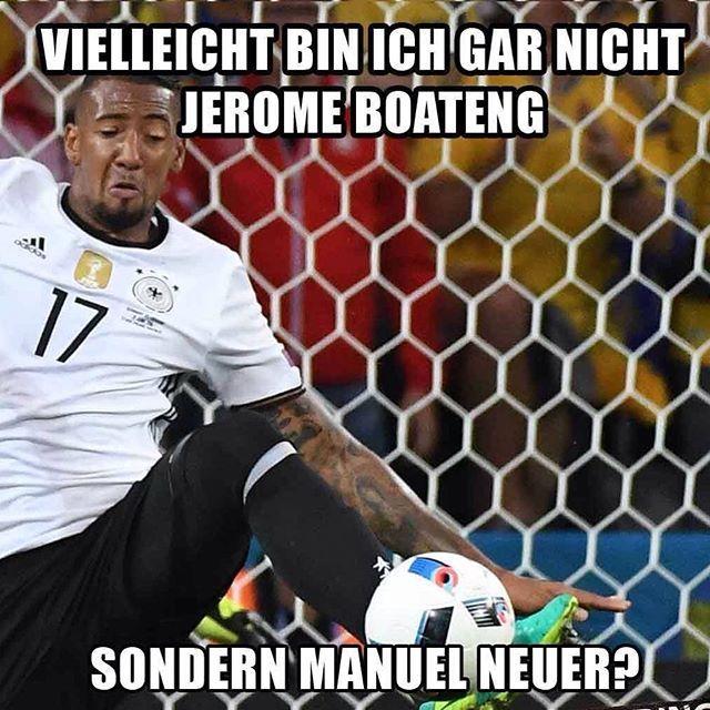 Vielleicht ist er gar nicht Jerome Boateng sondern Manuel Neuer... ⚽️✌️…