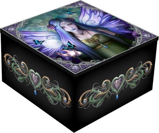 Trinket jewellery Mirror Box 'Mystic Aura' by Nemesis Now Now8237