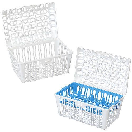 GOOD TO HAVE Basket for the dishwasher so all those little pieces don't fly all over. Breast or bottle fed this will help with pumping pieces, bottles & sippy cups. I would highly recommend getting a set especially since they are so cheap. They are very helpful   Babies R Us Infant & Toddler Dishwasher Basket 2 Pack