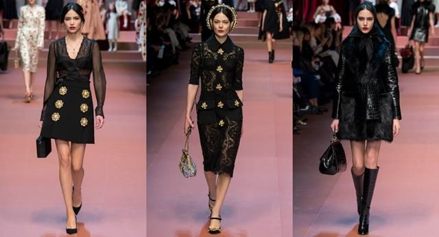 Top Designs – Dolce and Gabbana's Fall Collection 2015/2016  Top Designs – Dolce and Gabbana's Fall Collection 2015/2016 collage Black Copy