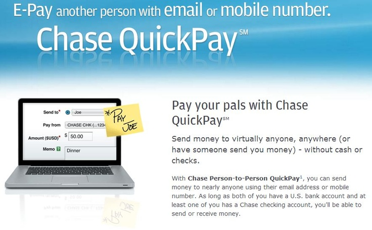 Chase Quick Pay, pay free via phone number or email. I use Pay-Pal for services but this is cool for friends cus only 1 needs a chase account.