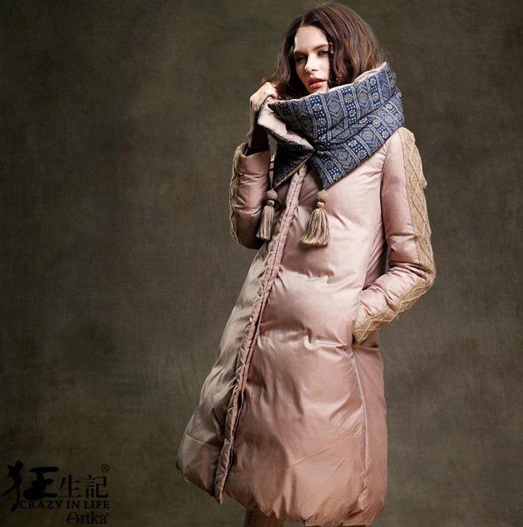 【楽天市場】オリジナルデザイン 冬新作 レディース ロング ダウンコート 取り外し可能襟/ネックウォーマー付き 異素材MIXの上質ダウン90% Aライン ロングダウンコート:YUKI Closet