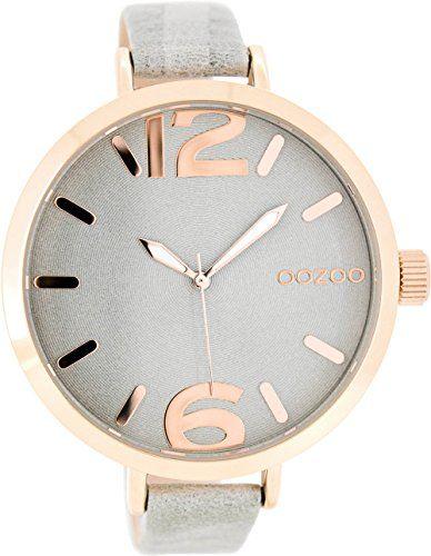 Oozoo Damenuhr mit Lederband 48 MM Rose/Grau/Grau C7962 - http://uhr.haus/oozoo/oozoo-damenuhr-mit-lederband-48-mm-rose-grau-grau