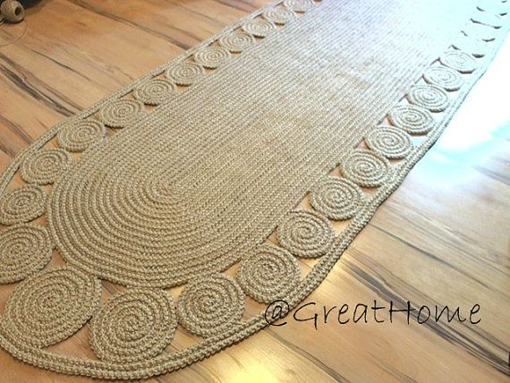 Hey, I found this really awesome Etsy listing at https://www.etsy.com/listing/164281453/9-x-3-ft-swank-decorative-jute-rug-oval