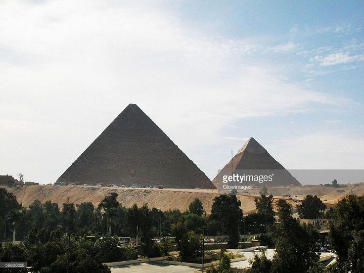 Clouds over pyramids, Giza Pyramids, Giza, Cairo, Egypt