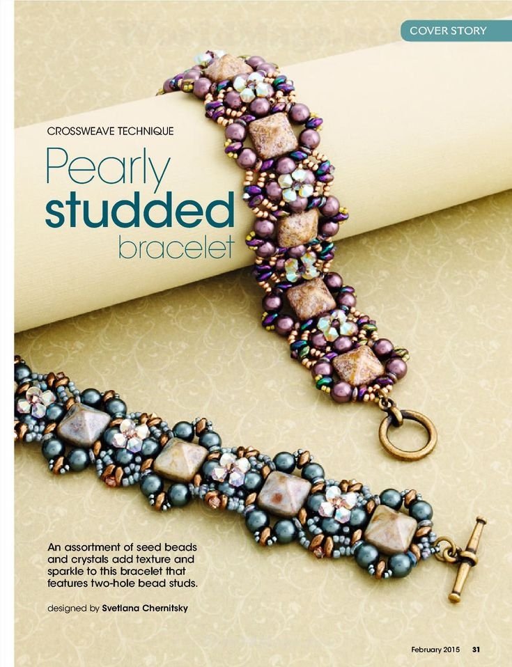 astrid patterns tutorials and beading cover chemitsky pinterest feb pearly on bead emagazines svetlana by etzy called available bracelet also best is the images ebooks studded of button beads
