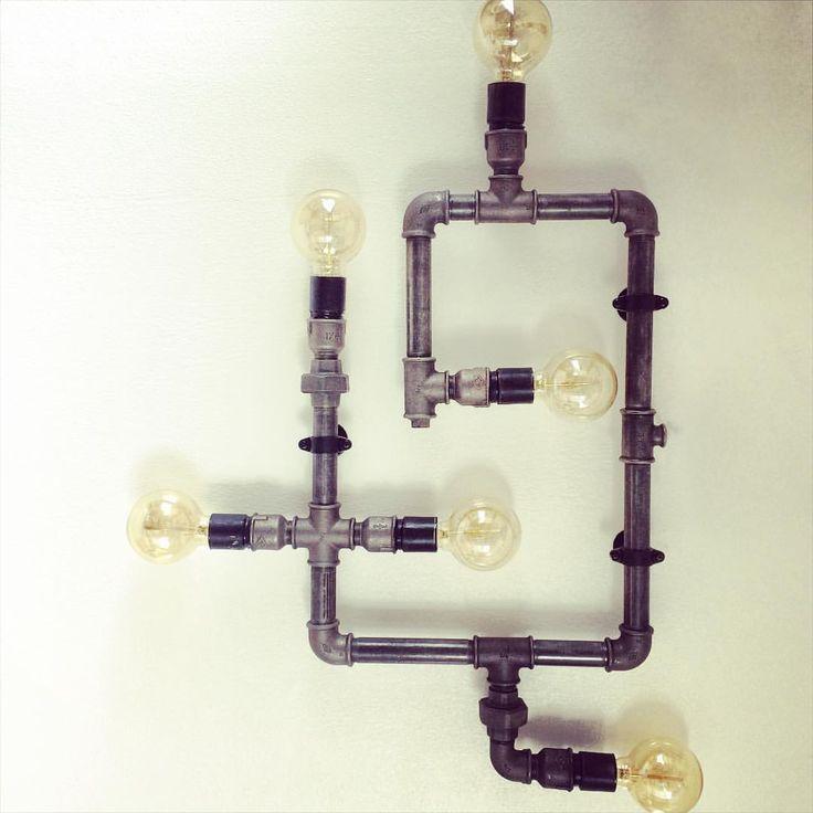 https://www.instagram.com/simonestubgaard/ the result of my first custom designed lamp#interiordesign #lamp #customdesign #firstdesign #interior #waterpipes #design #creative #newinspiration #artist #simonestubgaard