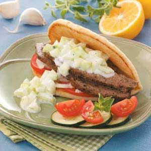 Makes great gyro meat.  Just like a Greek restaurant.  Used a separate tzatziki sauce that I like.