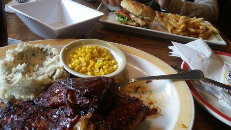 Bqq chicken w/mash & corn - 99 restaurant & pub