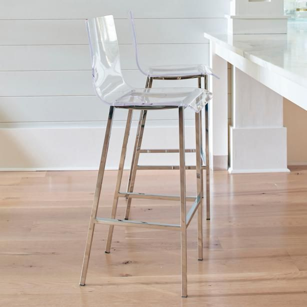 The sleekest approach to a home bar may be a clear acrylic style like our Elsa Bar Stool. A natural in a modern home, this sleek style also plays well in transitional homes, and even in modern ornate room designs, where the focus is meant to be on the art, architecture, and embellishments. In any environment, the clean, curvy acrylic style on a stainless steel base with a polished finish like the Elsa is an amazing design solution. It helps any room feel more open, and supports a minimalist…