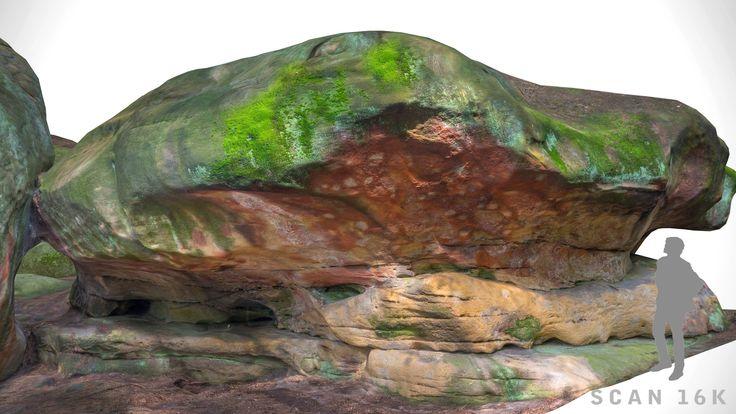 model of stone boulders scanned