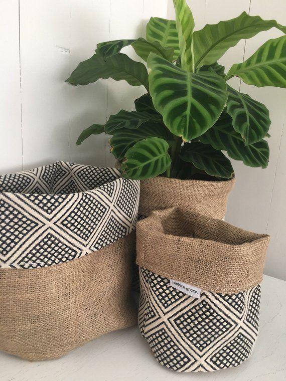 Aztec Small Plastic Plant Pot Flower Planter Cover Holder Modern Indoor Decor