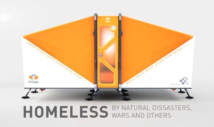 Cmax System: um abrigo móvel contra desastres naturais