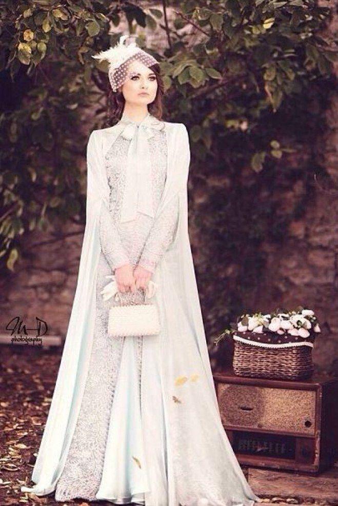 ... styles de hijab, Robes de mariée avec hijab et Hijab de mariage