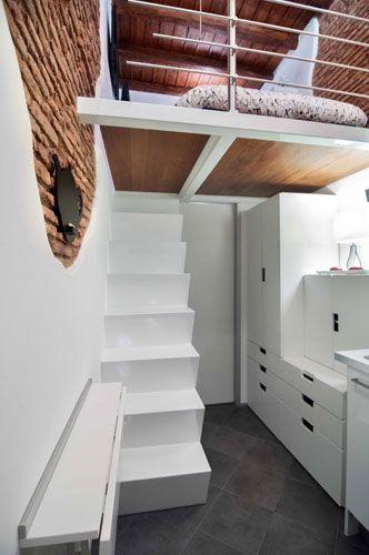 Tiny House Ansicht Schlafboden