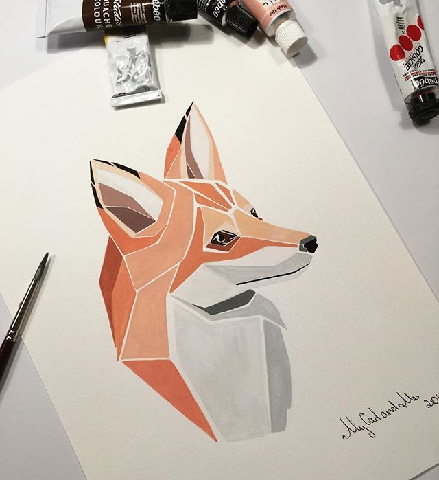 Just finished!) Quick small artwork. I adore fox and can't do anything about it!) #art #artist #australia #adelaide #adelaideart #abstract #abstractart #modern #modernart #decor #decoration #illustration #painting #draft #gouache #handmade #unique #design #animal #fox #red #wild #nature #zoo #adelaidezoo