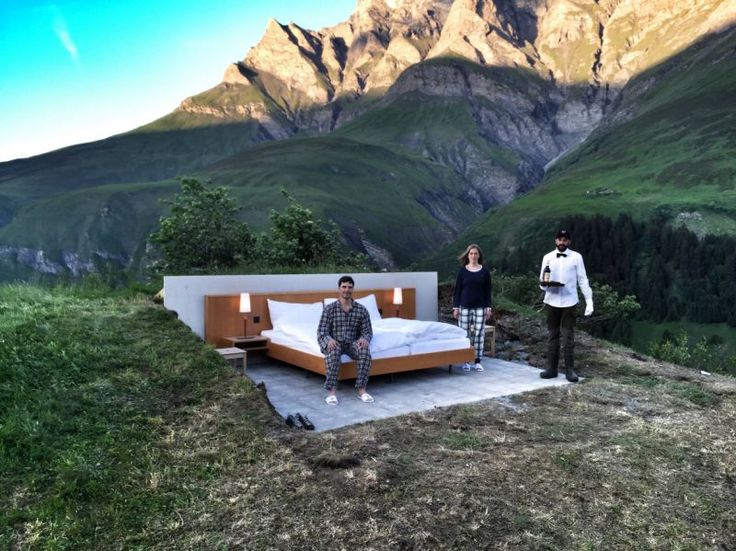 Null Stern Hotel  the only star is you | open air hotel Swiss