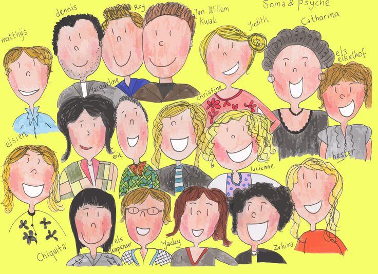 Een persoonlijk cadeautje voor een collega die afscheid neemt: een tekening van jouw team!
